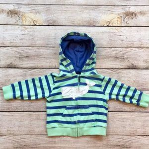 Carter's Happy Whale Striped Hoodie